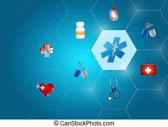 La red de formas de diagramas médicos