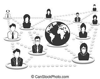 La red de gente de negocios
