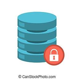 La red de servidores del centro de datos de seguridad