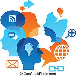 La red social está llena de iconos de medios