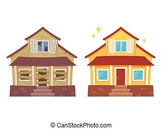 La renovación de la casa antes y después
