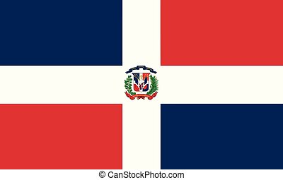 La República Dominicana de la bandera nacional