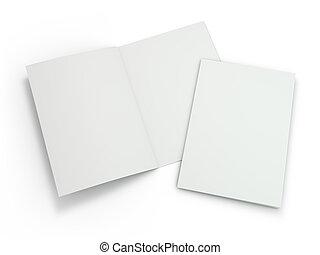 La revista Blank Brochure está aislada para reemplazar tu diseño. 3D