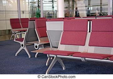 La sala de espera del aeropuerto