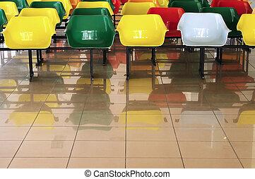 La sala de espera en el aeropuerto