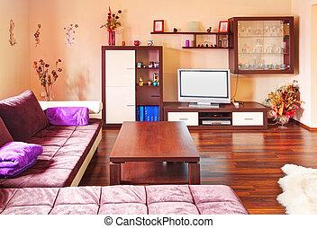 La sala de estar es moderna