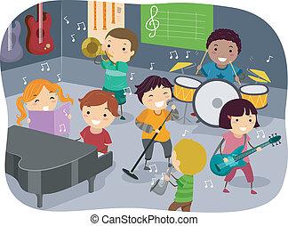 La sala de música de los niños