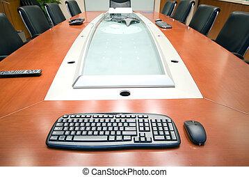La sala interior de la oficina moderna
