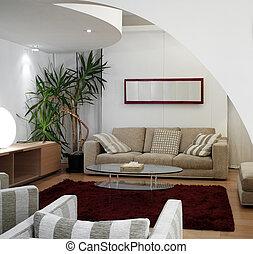 La sala moderna de lujo