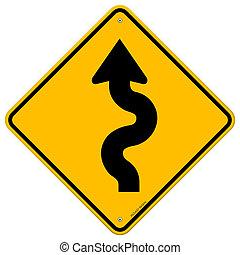 La señal de la carretera