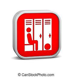 La señal de la habitación del armario