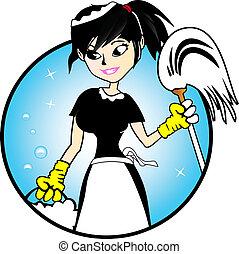 La señora de la limpieza - ilustración