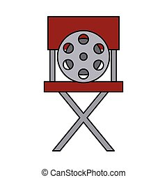 La silla de director de cine es un icono aislado