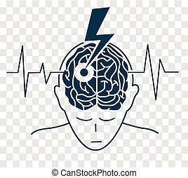 La silueta de la enfermedad es un derrame cerebral