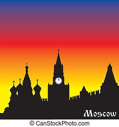 La silueta de Moscú