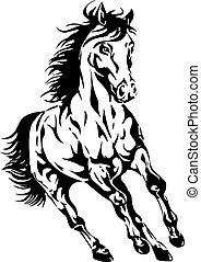 La silueta de un caballo