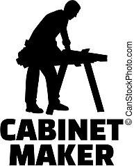 La silueta del ministro con título de trabajo
