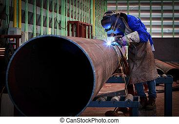 La soldadura de tuberías en la construcción