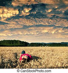 La soledad del campo de oro