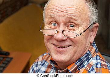 La sonrisa de un anciano.