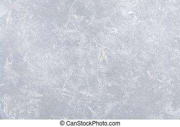 La superficie de la nieve