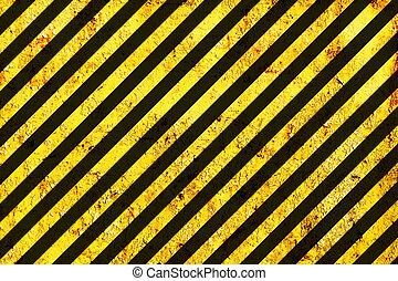 La superficie descompuesta como advertencia o patrón de peligro