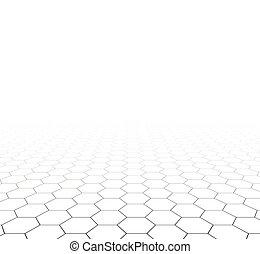 La superficie hexagonal espectativa.