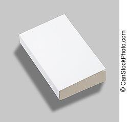 La tapa de los libros de papel en blanco