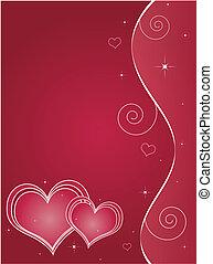 La tarjeta de felicitación de San Valentín