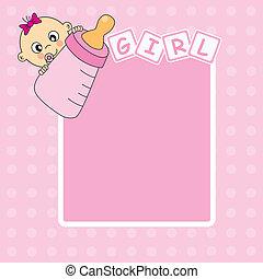 La tarjeta de presentación de la niña