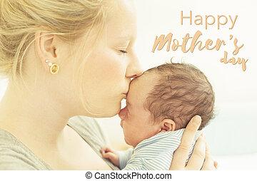 La tarjeta del día de la madre feliz