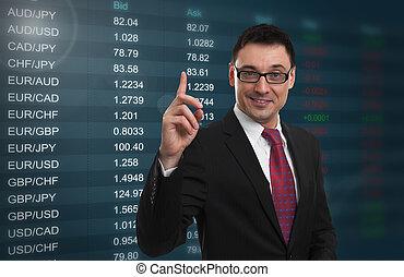 La tasa de cambio de moneda