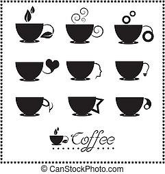 La taza de café está lista, taza de té