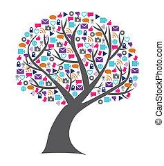 La tecnología social y los medios de comunicación están llenos de iconos en cadena