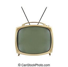 La televisión portátil de 1950 con antenas arriba