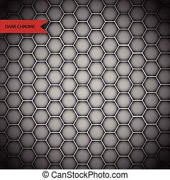 La textura de cromo de metal abstracto aislada