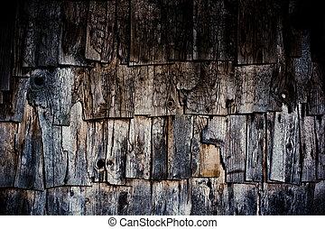 La textura de la madera vieja