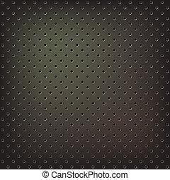 La textura de la malla metálica
