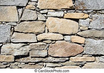 La textura de la pared de piedra