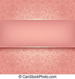 La textura de la tela adornada rosa. Vector 10
