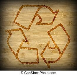 La textura de la textura de bambú se recicla