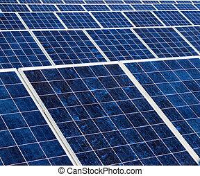 La textura del panel solar