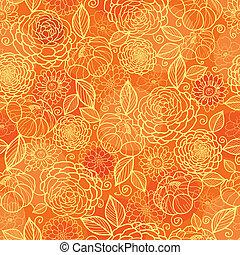 La textura floral de oro de la flora sin marcas de fondo
