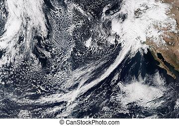 La tierra del espacio. Elementos de esta imagen provista por la NASA.