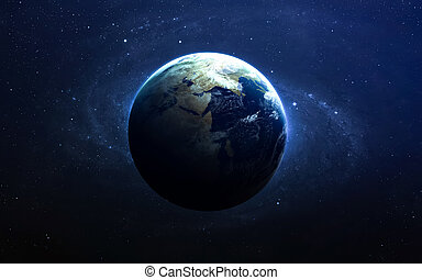 La tierra del espacio. Estos elementos de imagen provistos por la NASA.