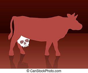 La vaca lechera no está sana