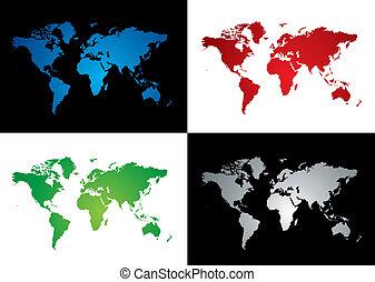 La variación del mapa mundial