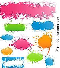 La variedad de estandartes de colores modernos y florales