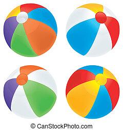 La variedad de la pelota de playa