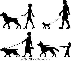 La variedad del dueño de perros